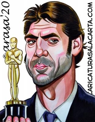 Caricaturas famosos Javier Bardem