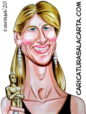 Caricaturas famosos Laura Dern