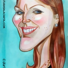 Caricaturas de famosos: Julianne Moore