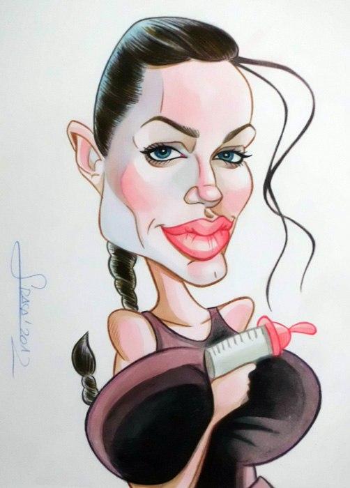 Caricatura de Angelina Jolie