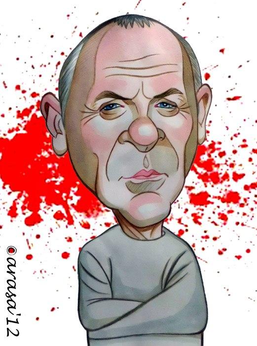 Caricatura de Anthony Hopkins