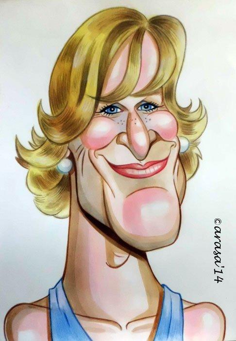 Caricatura de Glenn Close
