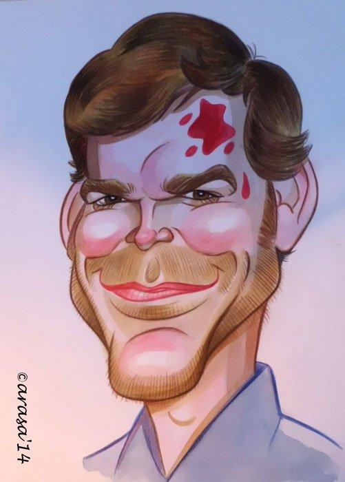 Caricatura de Michael C. Hall
