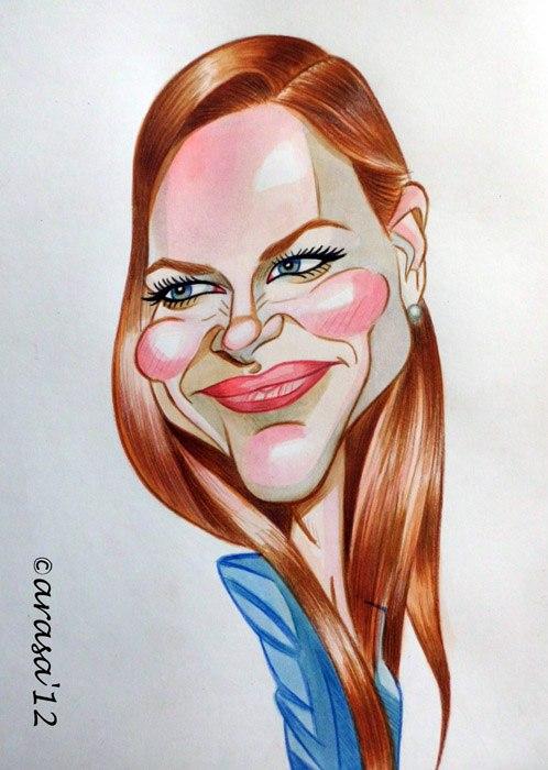 Caricatura de Nicole Kidman