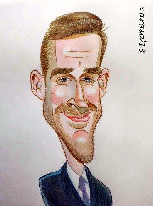 Caricatura de Ryan Gosling