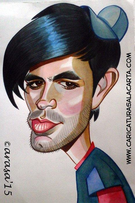 Caricaturas de famosos: Enrique Iglesias