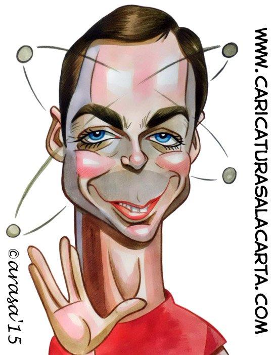 Caricaturas de famosos: Jim Parsons