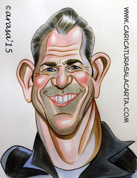 Caricaturas de actores famosos: Mel Gibson