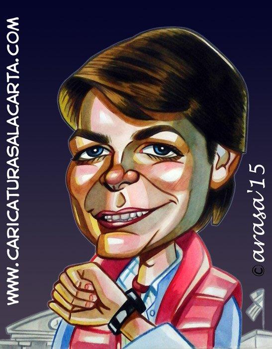 Caricaturas de famosos: Michael J. Fox