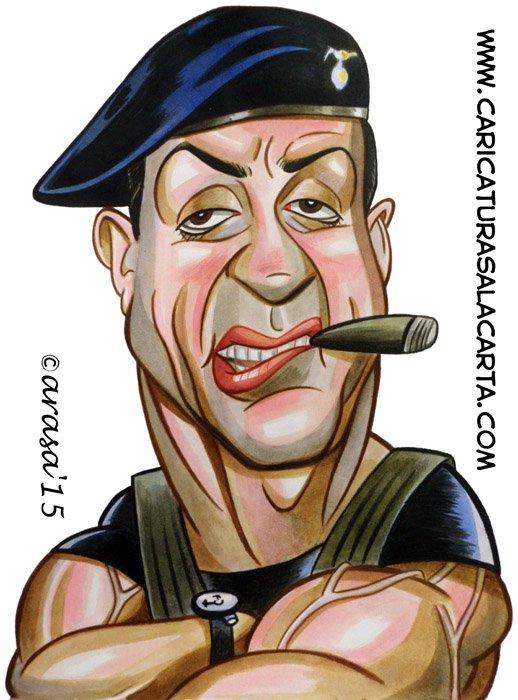 Caricaturas de famosos: Sylvester stallone