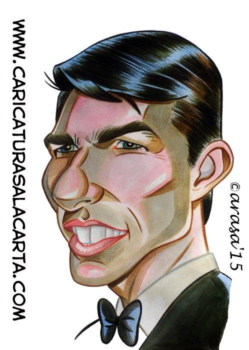 Caricaturas de famosos: Tom Cruise