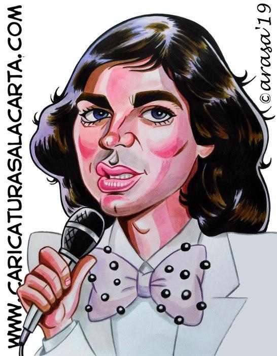 Caricaturas de famosos cantantes: Camilo Sesto