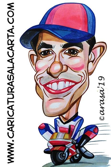 Caricaturas de famosos corredores: Marc Marquez