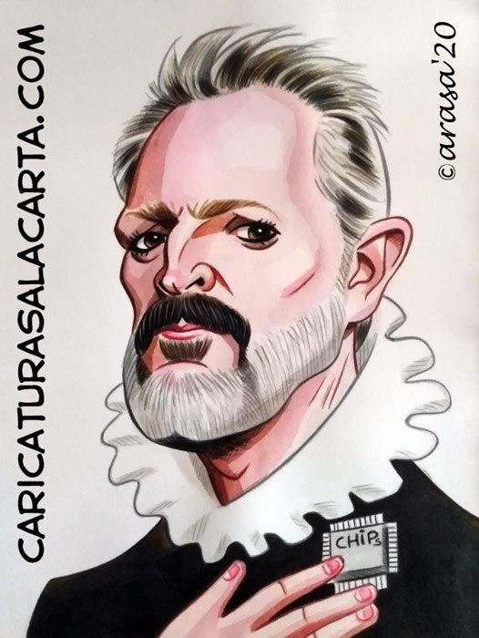 Caricaturas de famosos: Miguel Bosé