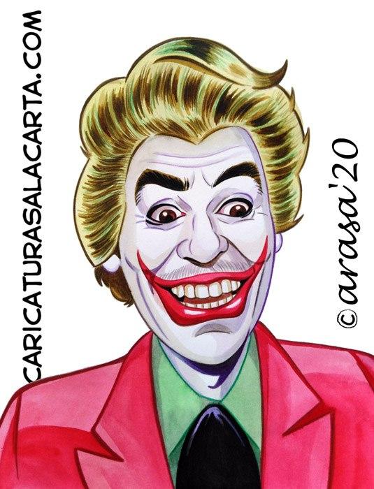 Caricaturas de famosos: Cesar Romero como Joker en Batman