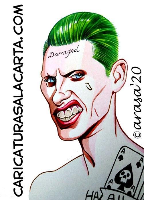 Caricaturas de famosos: Jared Leto como Joker