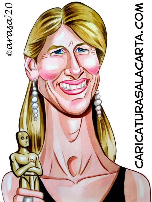 Caricaturas de famosos: Laura Dern