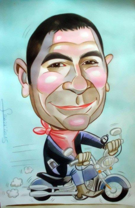 Caricaturas personalizadas para particulares: José Vicente
