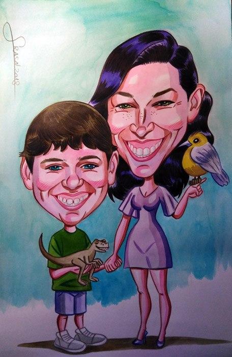 Caricaturas personalizadas para particulares: Joan