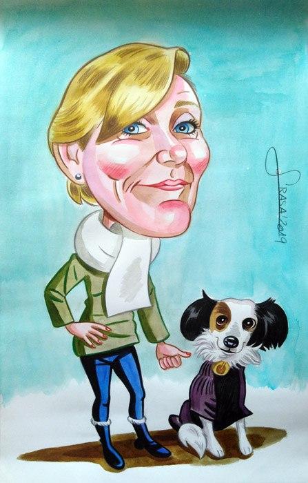 Caricaturas personalizadas para particulares: Mariam