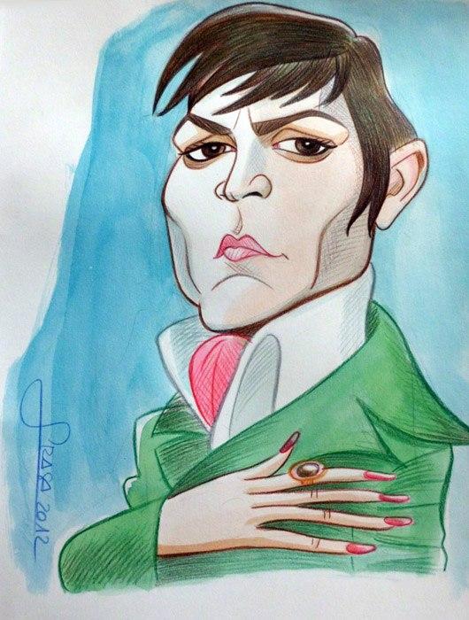 Caricatura de Johnny Depp