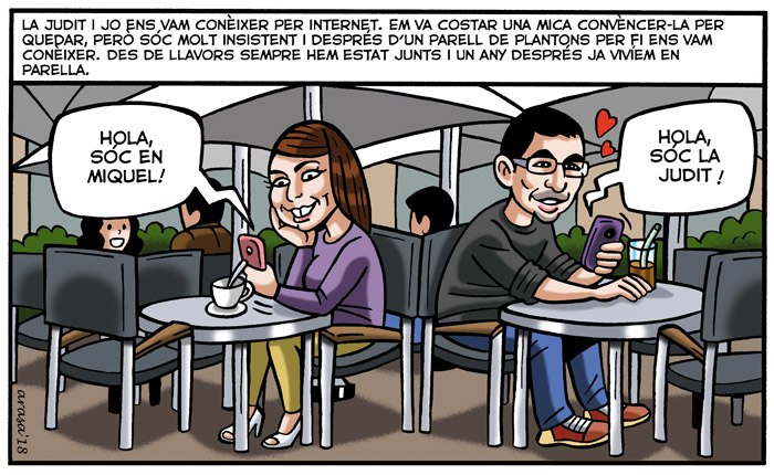 Viñeta digital personalizada tipo cómic para Judit