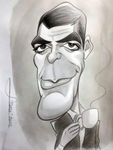 Caricatura George Clooney,