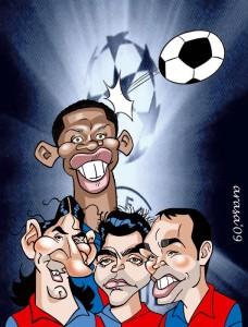 Futbolistas Barça Champions