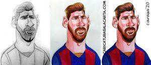 Proceso creación caricatura Messi
