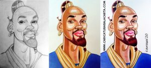 Caricaturas famosos Will Smith en Aladdin
