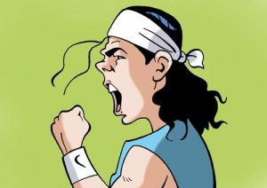 Caricatura digital del tenista Rafa Nadal