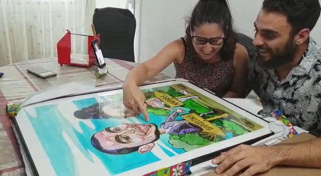 regalos personalizados originales divertidos caricaturas personalizadas online particulares