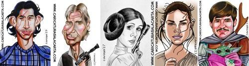 Caricaturas famosos Star Wars