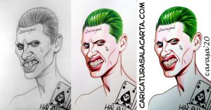 Proceso creación caricatura Jared Leto Joker