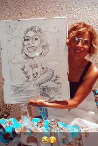 Fotos clientes caricaturas pèrsonalizadas