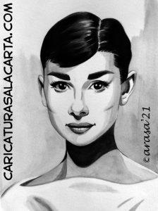 Retrato de Audrey Hepburn